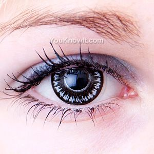 Black Zombie Cool Contact Lenses