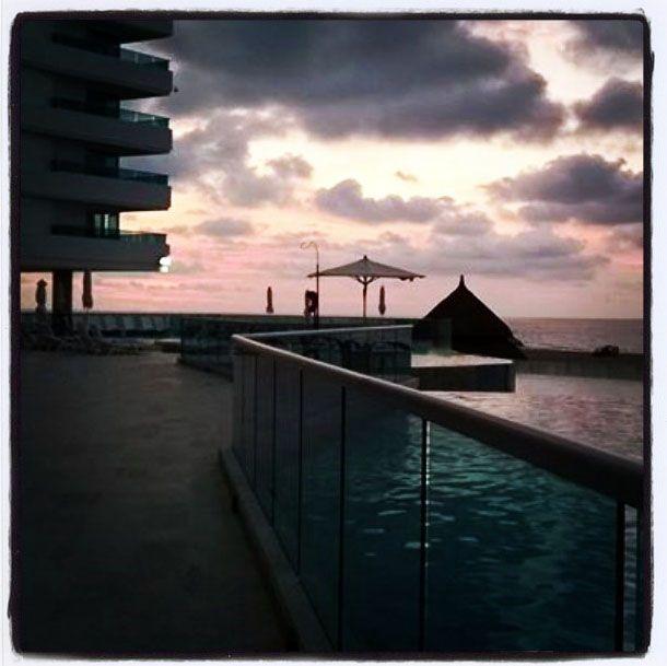 Atardecer desde las piscinas del Hotel Las Américas, Cartagena