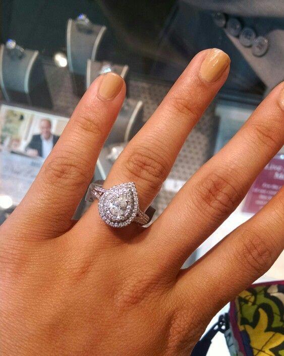 Teardrop Neil lane engagement ring