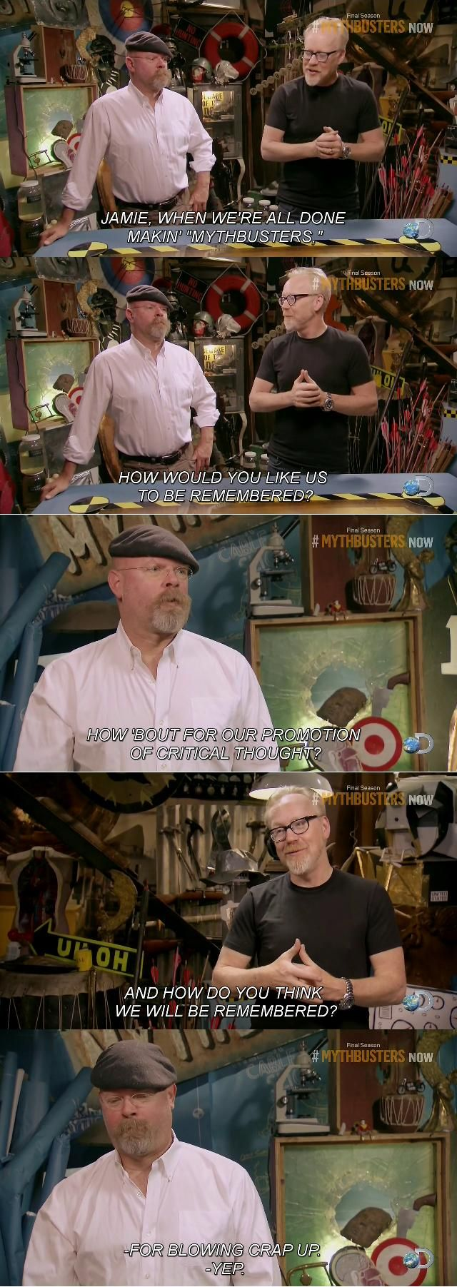 Super Whisper Collection: Mythbusters: How do you think we will be remembere...