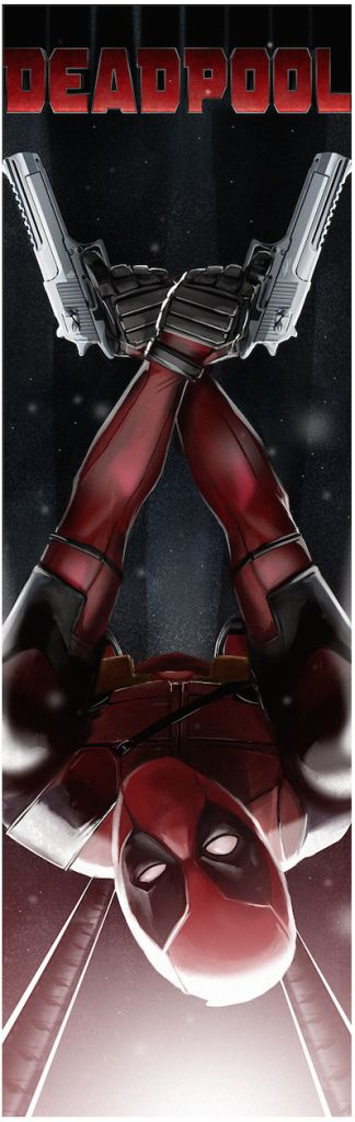 This image is by Poster Posse Pro Andy Fairhurst and is part of our tribute to Ryan Reynolds, 20th Century Fox, Marvel's DEADPOOL
