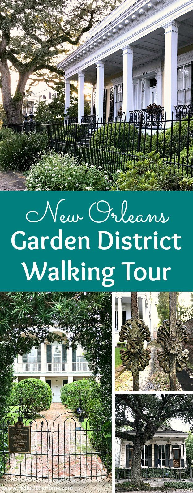 Take this free self-guided Garden District Walking Tour to see the prettiest New Orleans neighborhood with beautiful mansions, a historic cemetery and more!