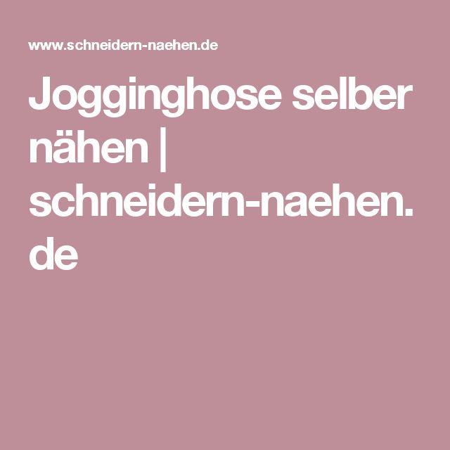 Jogginghose selber nähen | schneidern-naehen.de
