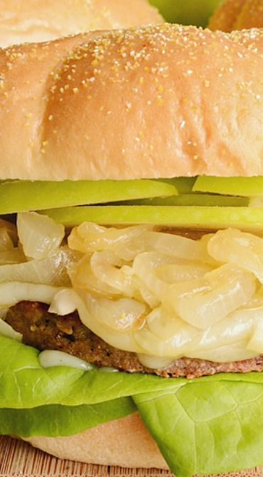 Green Apple and Brie Boca Burgers