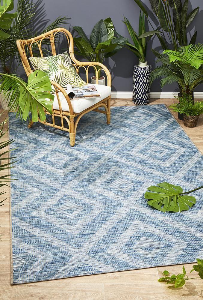 Promenade Indoor Outdoor Cain Blue Rug Floor Area Rugs Indoor Outdoor Rugs Outdoor Rugs