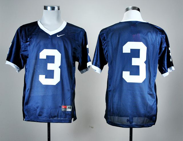 Men's NCAA Penn State Nittany Lions #3 Navy Blue Jersey