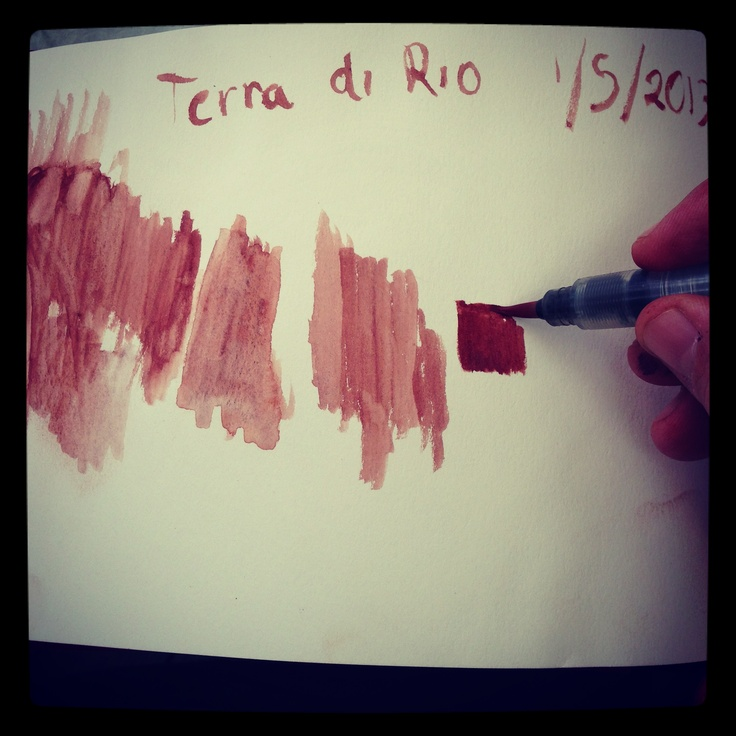 creating colors for paintings  from Elba island's minerals