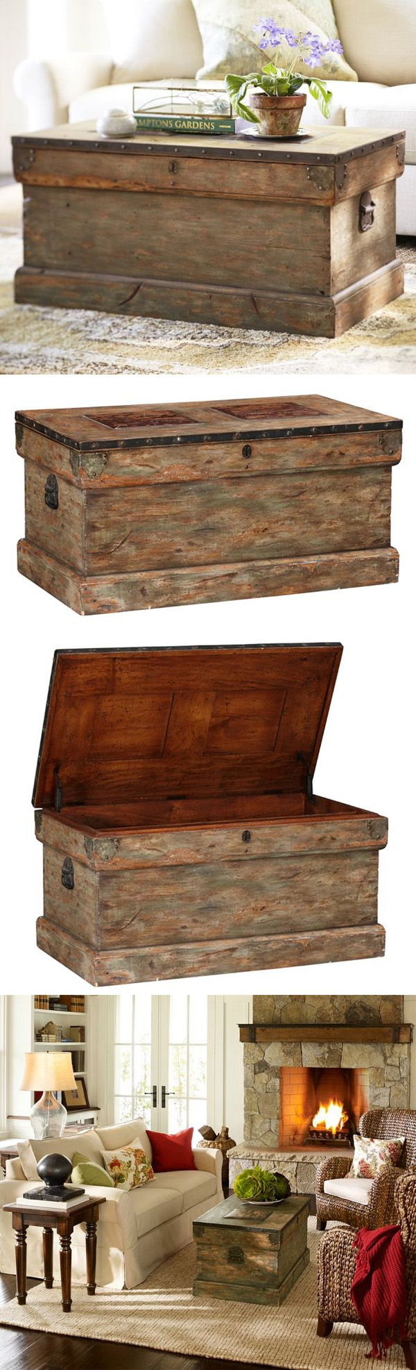 Best 25 trunk coffee tables ideas on pinterest coffee table rebecca trunk 499 pottery barn 38w 225 trunk coffee tablescoffe geotapseo Image collections