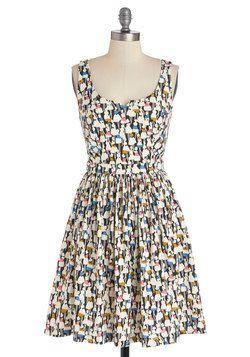 Adorable Errands Dress in Multicolored, #ModCloth