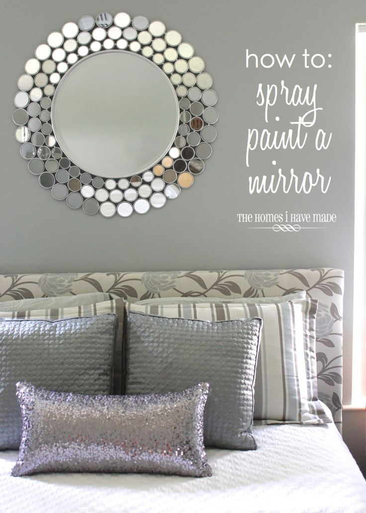"""Tutorial for Spray Painting a """"tricky"""" mirror"""