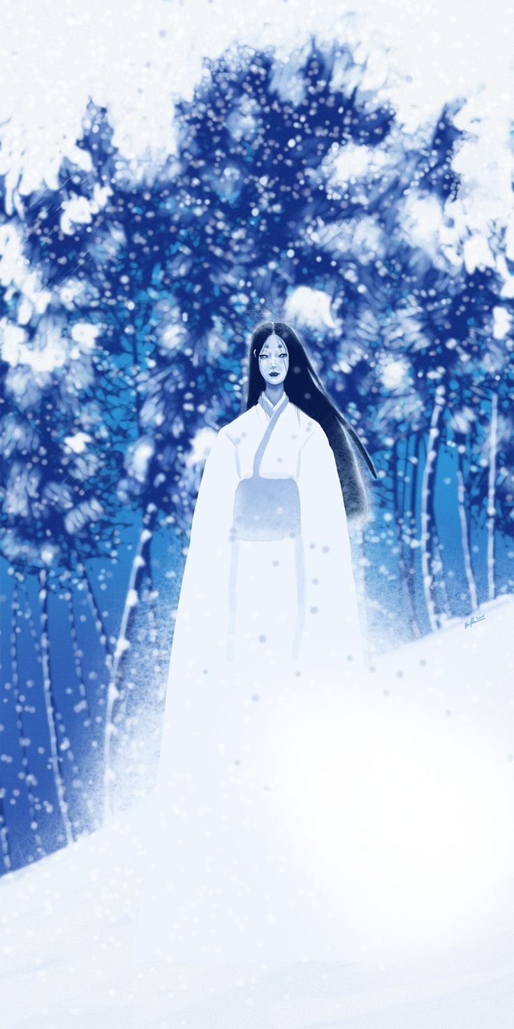 Drawlloween Day 1: Yuki Onna by Catwagons.deviantart.com on @DeviantArt