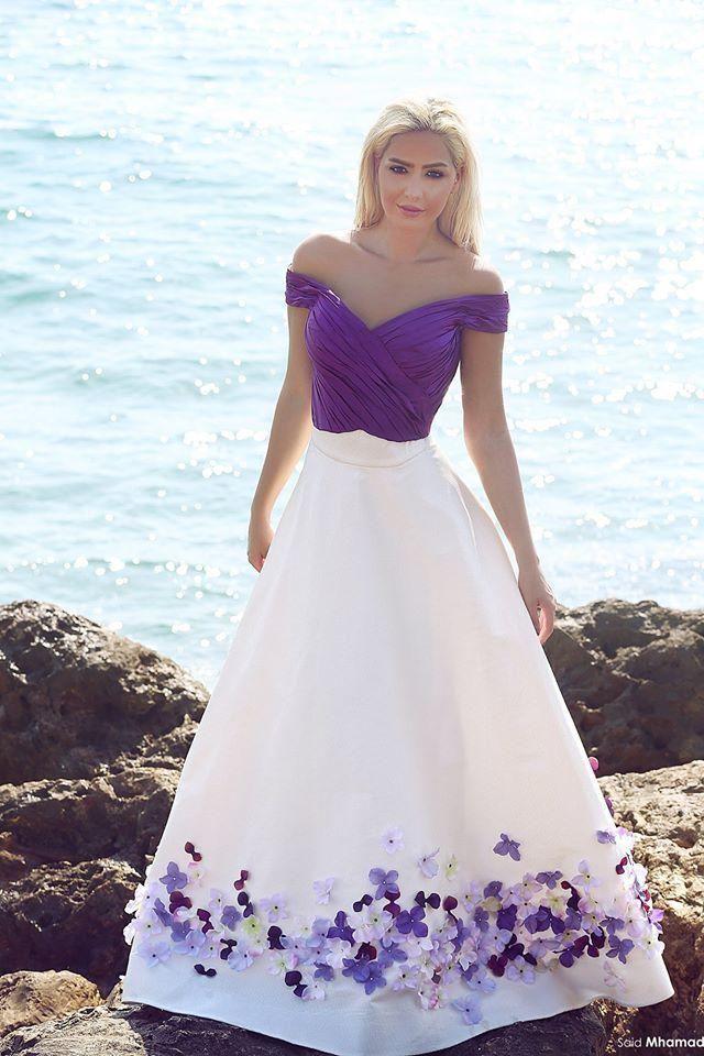 Purple 2016 New Spring Colorful A Line Wedding Dresses Off Shoulder Long Bridal