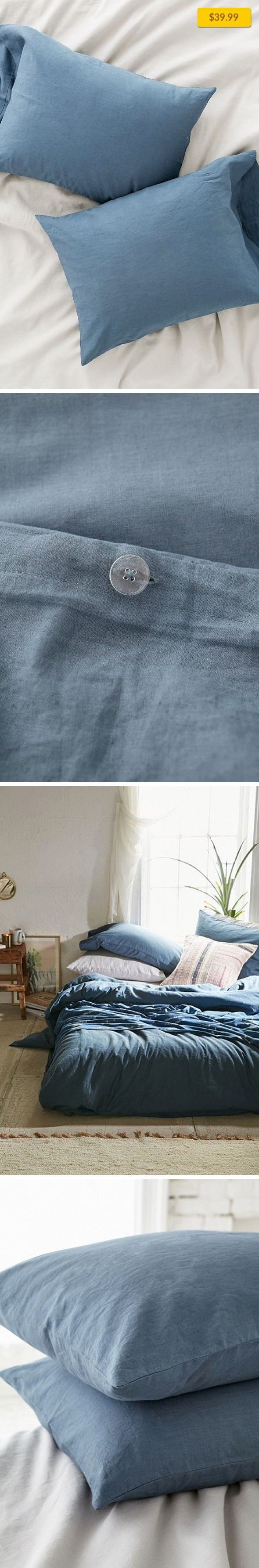 Assembly Home Linen Blend Pillowcase Set Apartment, Bedding, Pillowcases + Shams   Set of 2 linen blend pillowcases perfect for any bedding. Soft + comfy materials great for curling up. Versatile solid design works with rustic, romantic or modern bedding for a totally customizable look. Only at Urban Outfitters. Content + Care - Set of 2 - 55% linen, 45% cotton - Machine wash - Imported Size - Len...