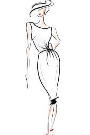 FASHION ILLUSTRATION WOMAN -
