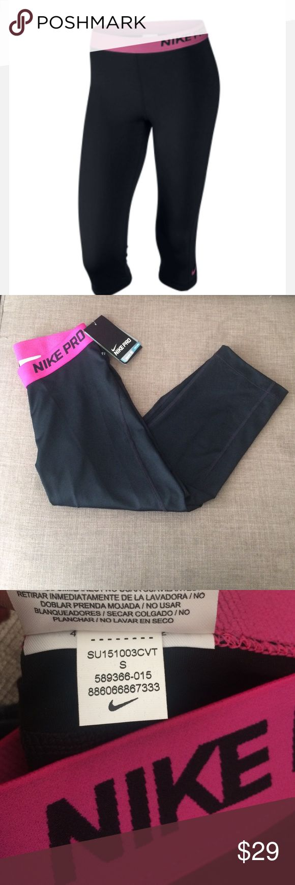 Nike pro women's training capris size small New with tags. Great for working out or everyday wear! Size small Nike Pants Leggings
