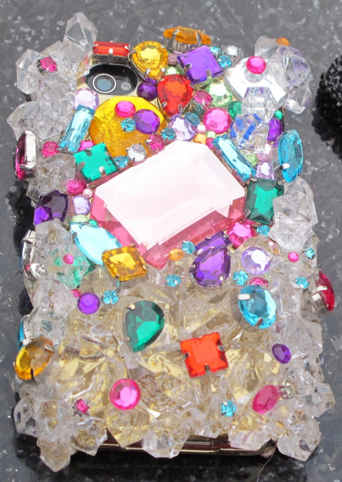 bedazzled and jeweled cell phone case