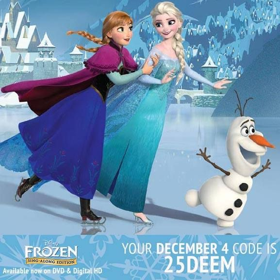 ABC Family & Disney Movie Rewards are partnering to give you Bonus Points on Disney Movie Rewards December 1 - 25! Here is today's Magic Code: 25DEEM.