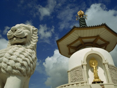 The Peace Pagoda at Willen Lake, Milton Keynes - my fave spot to picnic.