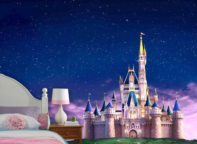 Superb Style Your Walls: Fairytale Castle Wall Mural. Wall DécorWall MuralsDisney  ... Part 24