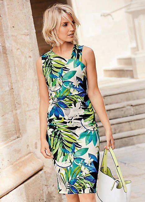 205e4abf5b Tropical Print Scuba Dress in 2019 | Neida R | Scuba dress, Dresses,  Tropical wedding dresses
