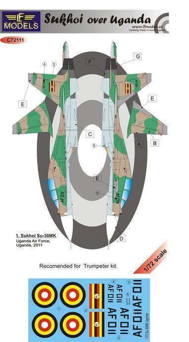 Sukhoi Su-30 over Uganda 1/72 LF Models