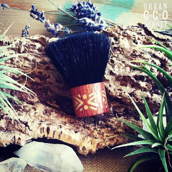 <3 Mini Kabuki Brush Hand Painted Tribal Travel Makeup Brush ♥ ~ by Urban Eco Beauty ♥ Pure Me Collection ♥ #UrbanEcoBeauty #PureMe #Sanura ♥ #doTerra #UrbanGirl #Bohemian #Gypsy #Boho #Hippie #Eco #EcoFashion #Handmade #Organic #Gypset #Yoga #Namaste #Herbs #NaturalLife #FreePeople #MindBodySoul #Calm #EssentialOils #Nomad #Stars #FreeSpirit #Goddess #Nature #Natural #SkinCare #Spa #Skin #Facial #Makeup #Herbal #Product #Treatment #Brush #MakeupBrush #Kabuki #KabukiBrush #Travel…