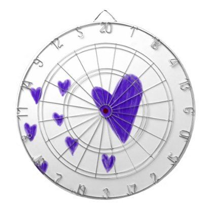 Purple hearts dartboard with darts - drawing sketch design graphic draw personalize