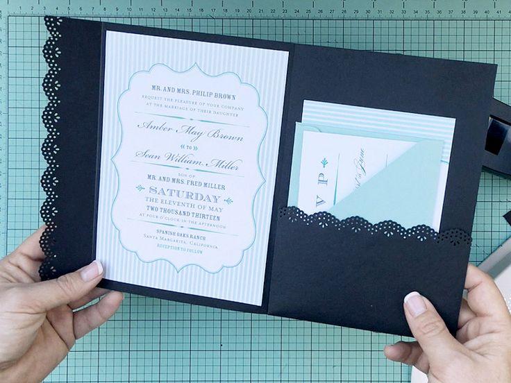 Hack an envelope into a wedding invitation pocketfold | Download & Print