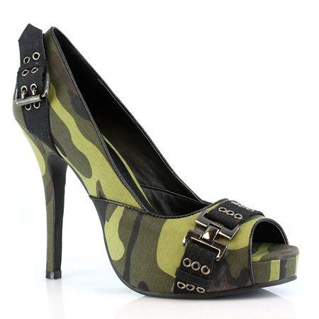 "4"" Heel Sexy Military High Heels"