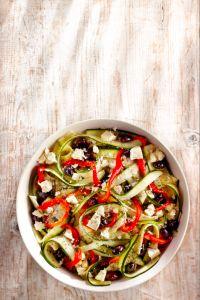 Salade van gemarineerde courgette en geroosterde paprika - Boodschappen