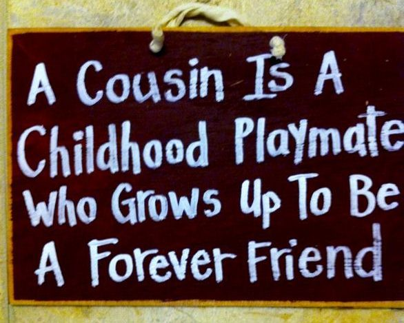 A Cousin Is A Childhood Playmate sign-cousin sign, cousin gift, cousin childhood playmate sign, birthday gift