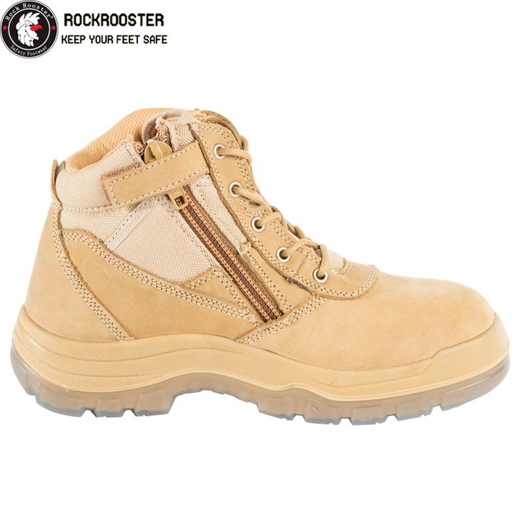 CORTEZ---ROCKROOSTER AK Series Men's work boots Zip sided boots with steel toe cap - AU$156.32