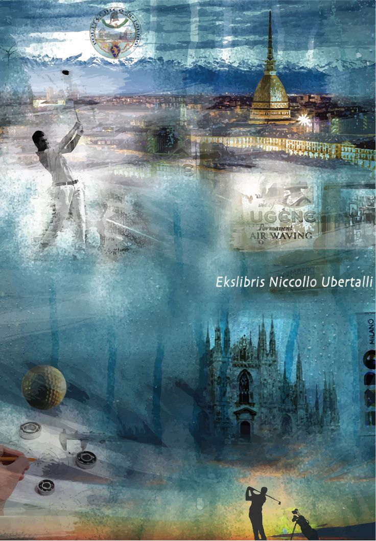 Niccollo Ubertalli için Ekslibris, CGD, 11,5x8, 2015