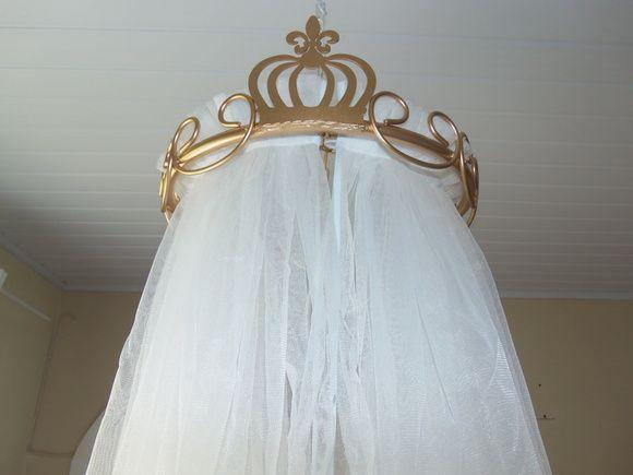 Dossel para mosquiteiro - lindo para um quarto de princesa!