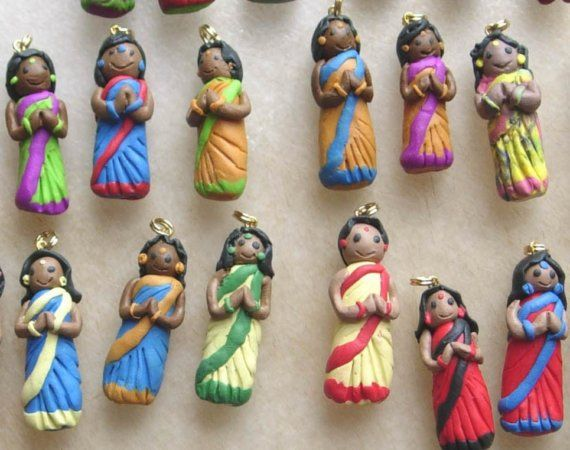 People beads featuring Indian men and women - custom order