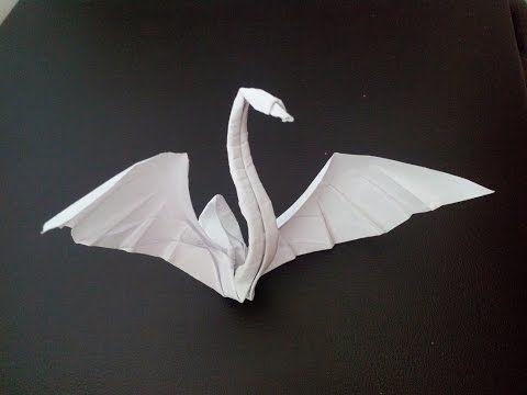 Оригами из бумаги лебедь, origami Swan (Hoàng Tiến Quyết) - YouTube
