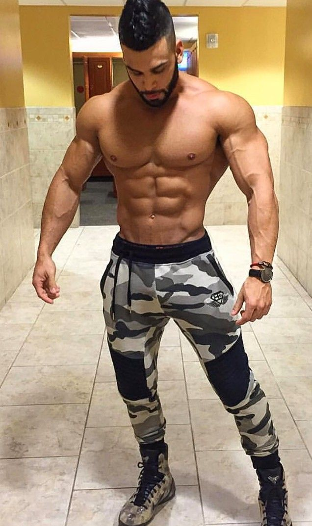 Attractive muscle chap