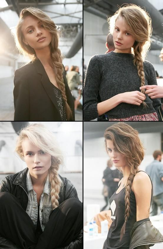 basically how my hair is everyday. except when my braid is messy, it doesn't look nice like that. -_-