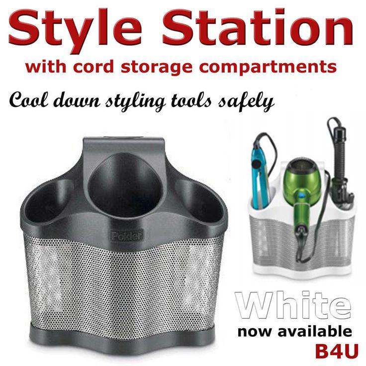 Hair Dryer Hair Straightener Holder Caddy Storage Bathroom Tools Organizer | eBay