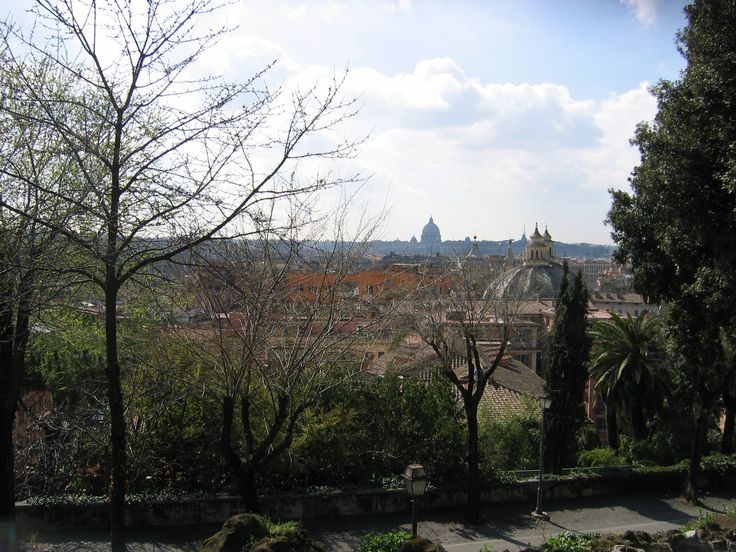 View across central Rome. Ivo and his mother were near here during the park scene in ONE MAN'S PRINCESS.