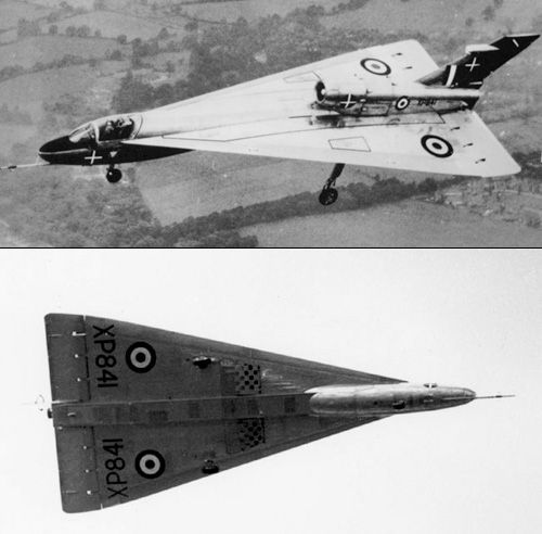 Handley Page HP.115, (1961) was a British delta wing research aircraft built by Handley Page to test the low-speed handling characteristics to be expected from a supersonic airliner of slender delta configuration. It formed part of the British supersonic aircraft research programme, carried out in the 1960s and sponsored by the Ministry of Supply, that eventually produced the Concorde.
