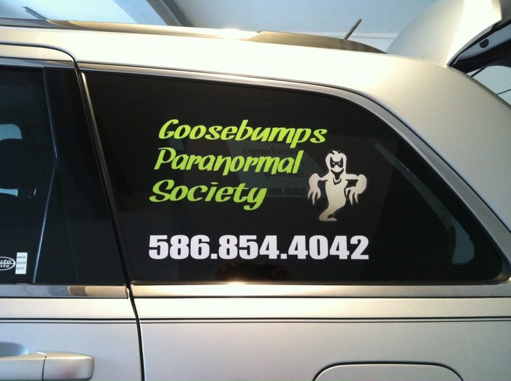 Car window lettering for customized advertising