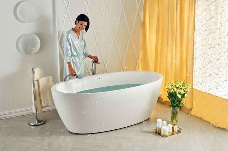 Aquatica Sensuality-Wht Freestanding Solid Stone Surface Bathtub – Gorgeous Tub