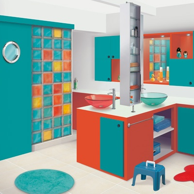 Salle de bains pour les enfants http://www.m-habitat.fr/par-pieces/sanitaires/amenager-une-salle-de-bains-pour-enfants-2683_A
