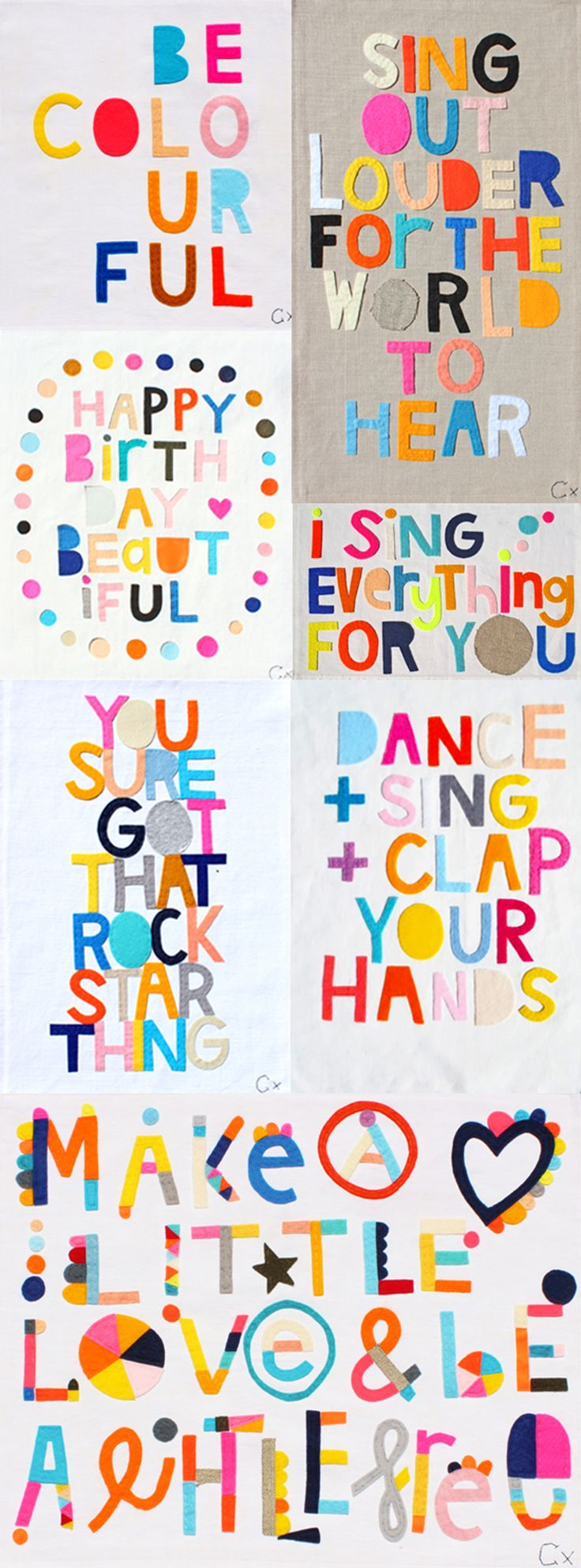 Cut out felt words to create art for kids rooms.