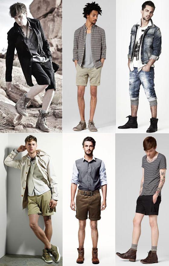 Moda Masculina Bota e Bermuda, Shorts, Homem.