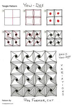 zentangle tutorial - Buscar con Google