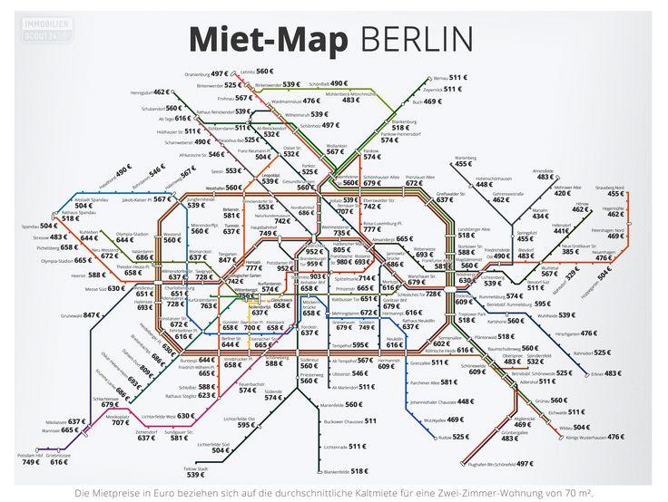 Einsteigen bitte! Mit der #MietMap Berlin behaltet ihr bei der Wohnungssuche den Überblick. Entlang der U- und S-Bahn-Stationen findet ihr die die durchschnittlichen Kaltmieten für eine 70qm-Wohnung. Wo ist eure finanzielle Endhaltestelle?
