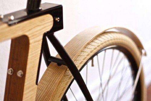 wood metal bicycle transport