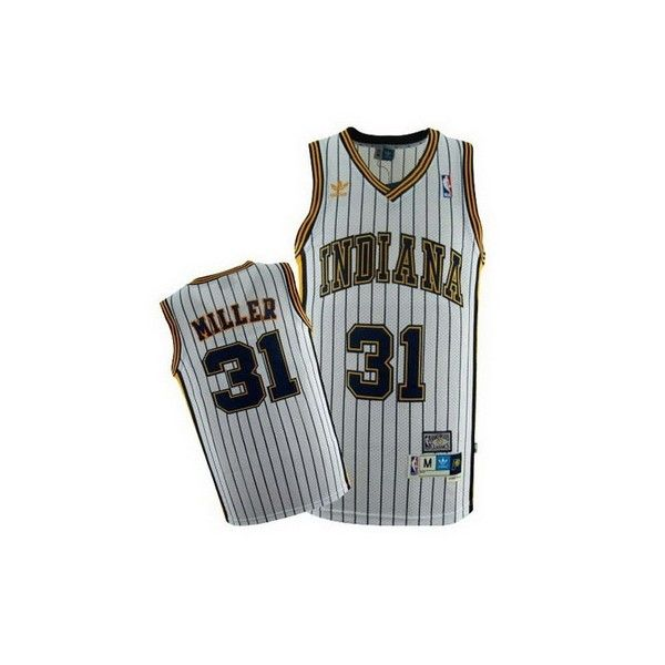 18434a963 ... free shipping mens indiana pacers reggie miller 31 white authentic nba basketball  jersey on ebid united